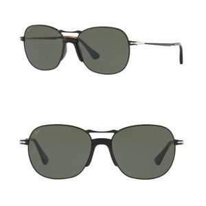 Persol 56mm Round Metal Sunglasses